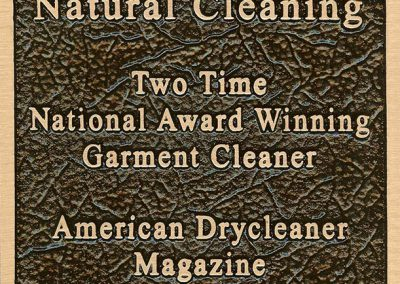 Two Time National Award Winning Dry Cleaner/ Garment Cleaner American Dry Cleaner 1982 & 2006