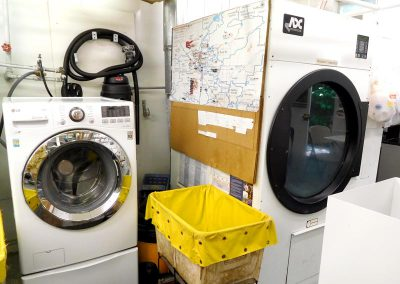Small Washer & Secondary Large Dryer